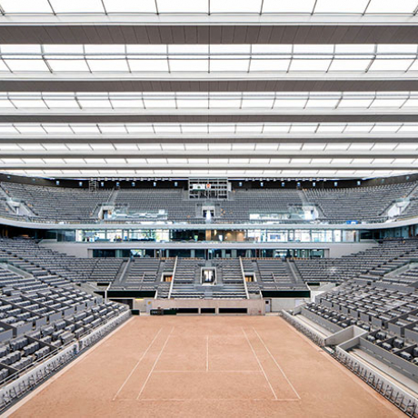 Philippe Chatrier tennis court roof - Roland Garros