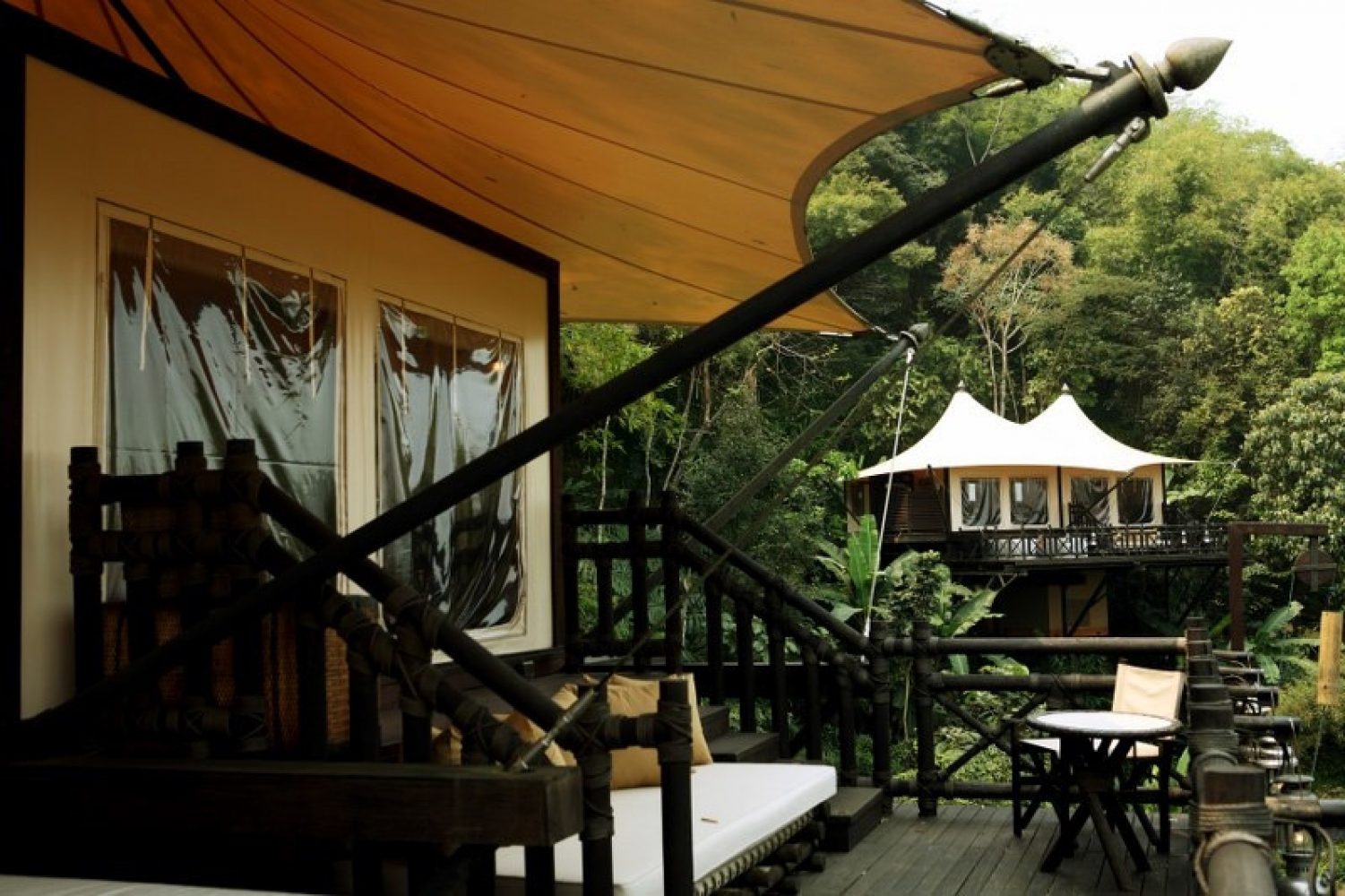 Tented camp at Four Seasons Golden Triangle