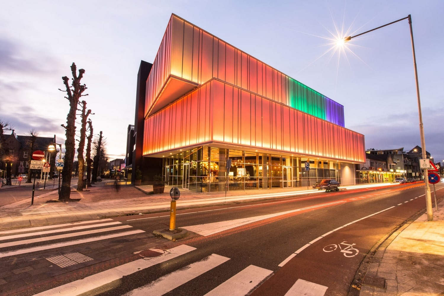 Uden Theatre lighted facade