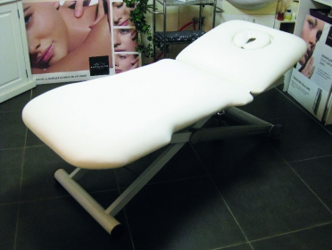 Massage table upholstery