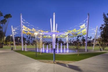International Tension Structures (ITS) completes Pioneer Park shading