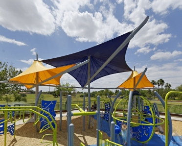 Playground shade by Internatinal Tension Structures