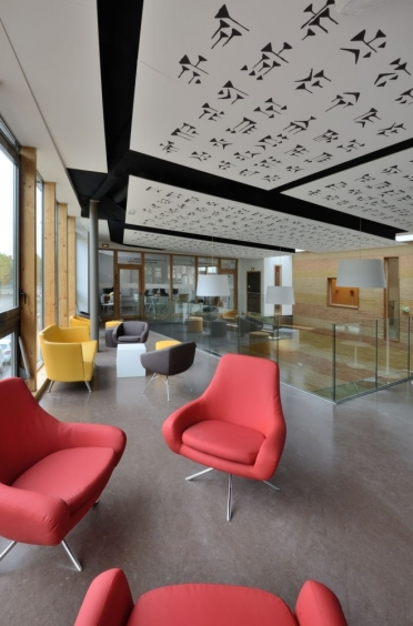 La Tour du Pin library acoustic ceiling