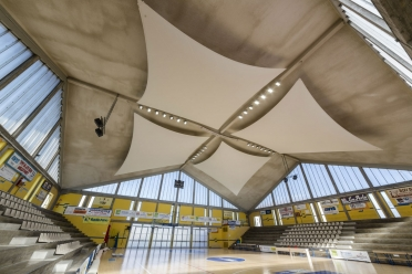 Fano sport hall acoustic sails