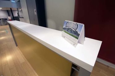 protection virucide reception desk
