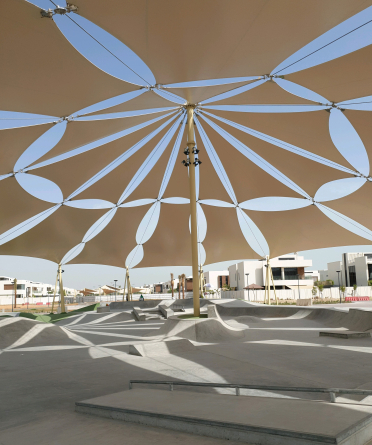 shade structure for synnu places