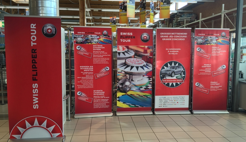 Banner stands for shops, dealerships, tradeshows, etc.