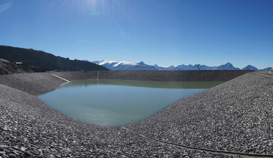 Hill reservoir in Alpe d'Huez